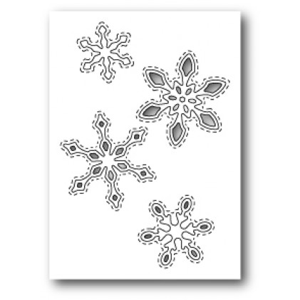 Poppy Stamps Stanzschablone - Stitched Snowflake Cutouts