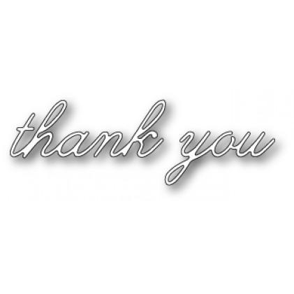 Poppy Stamps Stanzschablone - Decor Thank You