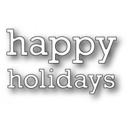 Poppy Stamps Stanzschablone - Proper Happy Holidays