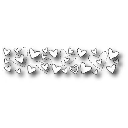 Poppy Stamps Stanzschablone - Shimmering Heart Border
