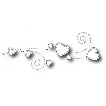 Poppy Stamps Stanzschablone - Heart Breeze