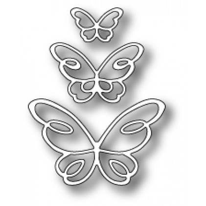 Poppy Stamps Stanzschablone - Devyn Butterfly Trio