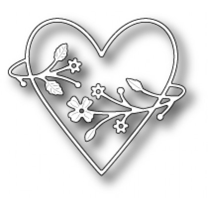 Poppy Stamps Stanzschablone - Francesca Heart