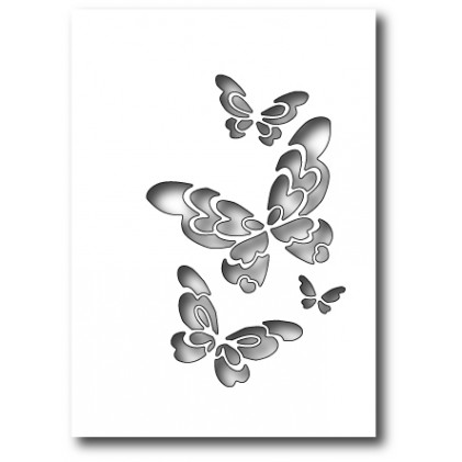 Poppy Stamps Stanzschablone - Bellina Butterfly Collage