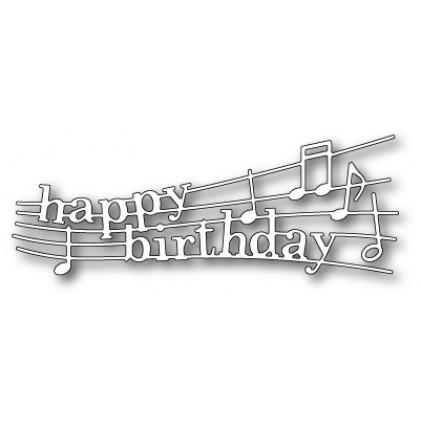 Poppy Stamps Stanzschablone - Happy Birthday Melody