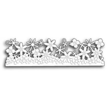 Poppy Stamps Stanzschablone - Confetti Floral Border