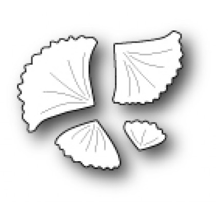 Poppy Stamps Stanzschablone - Little Gingko Leaves