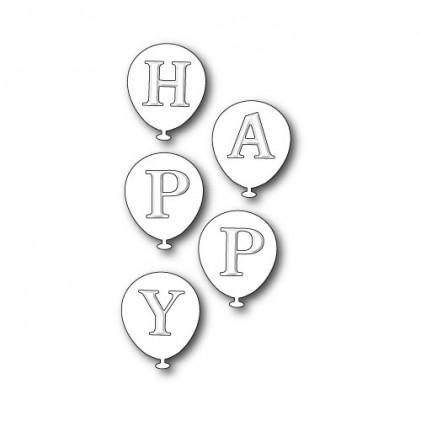 Poppy Stamps Stanzschablone - Happy Balloons