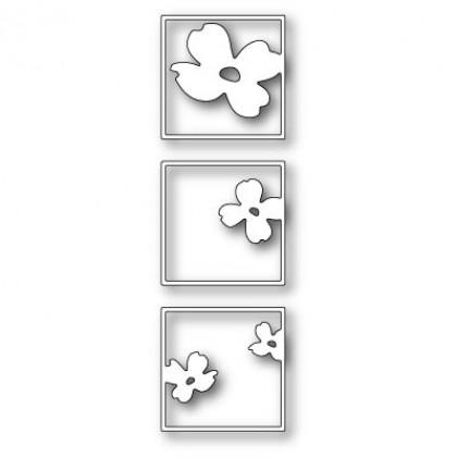 Poppy Stamps Stanzschablone - Dogwood Bloom Triptych