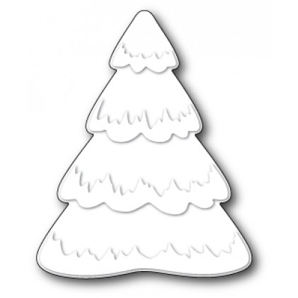 Poppy Stamps Stanzschablone - Puffy Snowtree