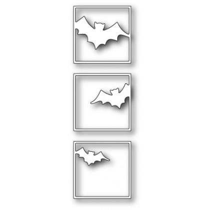 Poppy Stamps Stanzschablone - Batty Triptych