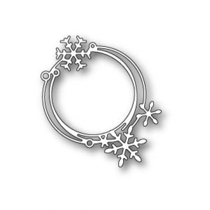 Poppy Stamps Stanzschablone - Scribble Snowflake Circle