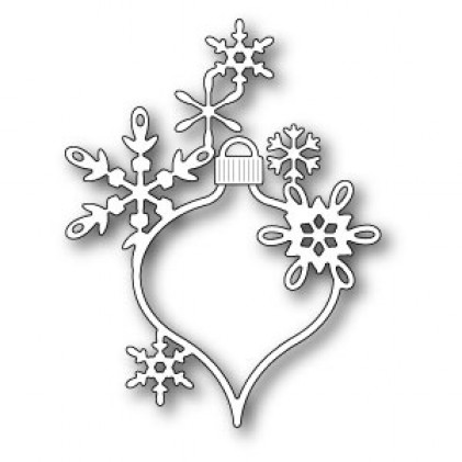 Poppy Stamps Stanzschablone - Lavinia Snowflake Ornament