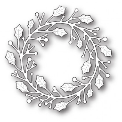 Poppy Stamps Stanzschablone - Home for the Holidays Wreath