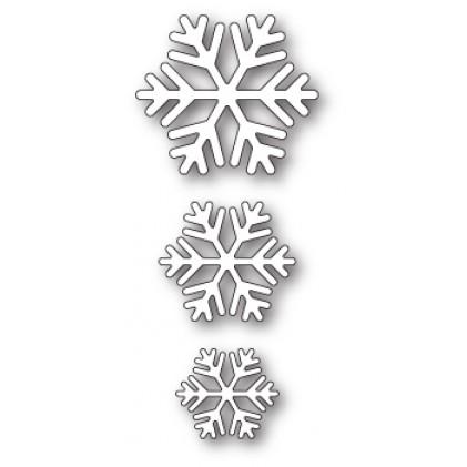 Poppy Stamps Stanzschablone - Classic Snowflake Trio