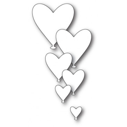 Poppy Stamps Stanzschablone - Love Balloons