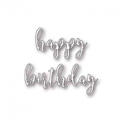Poppy Stamps Stanzschablone - Scribble Happy Birthday