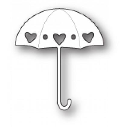 Poppy Stamps Stanzschablone - Heart Showers Umbrella