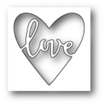 Poppy Stamps Stanzschablone - Scribble Love Heart