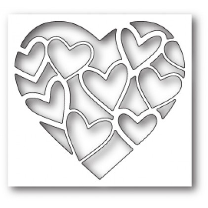 Poppy Stamps Stanzschablone - Inlay Heart
