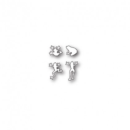 Poppy Stamps Stanzschablone - Tiny Frogs
