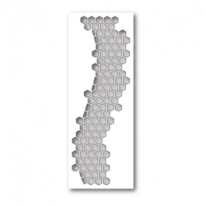 Poppy Stamps Stanzschablone - Honeycomb Curve