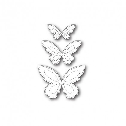 Poppy Stamps Stanzschablone - Stitched Butterfly Trio