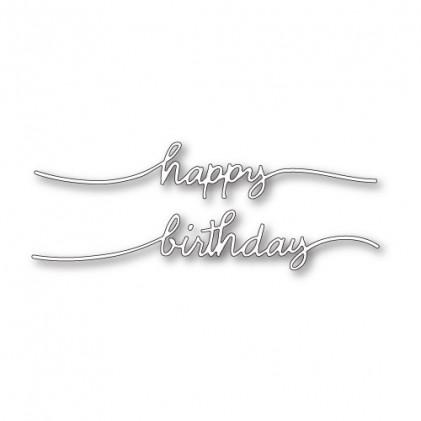 Poppy Stamps Stanzschablone - Happy Birthday Streamer