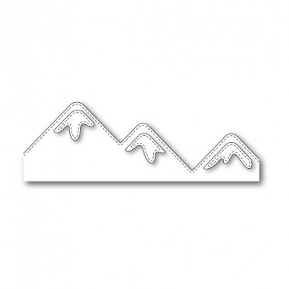 Poppy Stamps Stanzschablone - Stitched Majestic Mountains