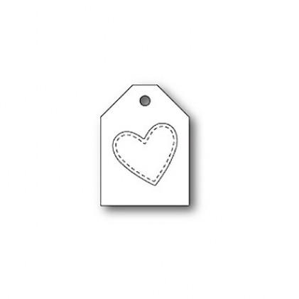 Poppy Stamps Stanzschablone - Heart Taglet
