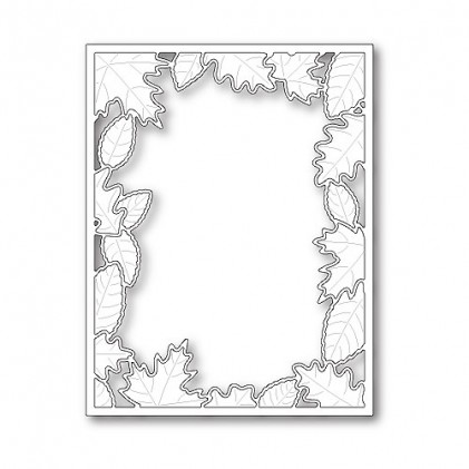 Poppy Stamps Stanzschablone - Brilliant Leaf Frame