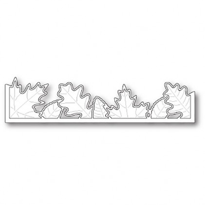 Poppy Stamps Stanzschablone - Brilliant Leaf Border