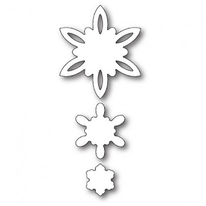 Poppy Stamps Stanzschablone - Celeste Snowflakes Outlines