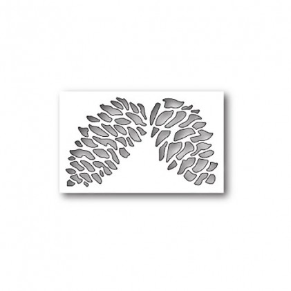 Poppy Stamps Stanzschablone - Double Pinecone Collage