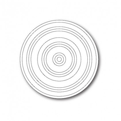 Poppy Stamps Stanzschablone - Concentric Rings