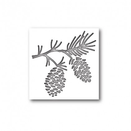 Poppy Stamps Stanzschablone - Pinecone Branch Collage