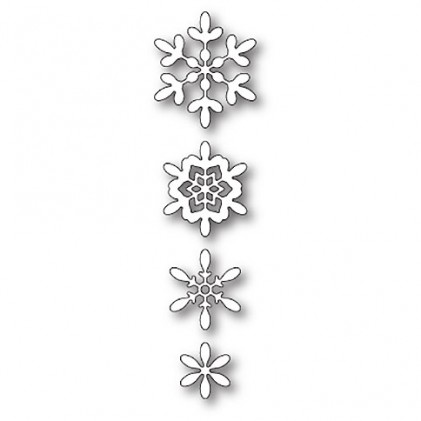 Poppy Stamps Stanzschablone - Boho Snowflakes