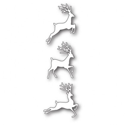 Poppy Stamps Stanzschablone - Jumping Deer Trio