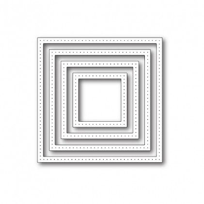 Poppy Stamps Stanzschablone - Pointed Square Frames