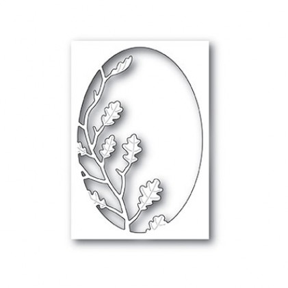 Poppy Stamps Stanzschablone - Oak Leaf Oval Collage