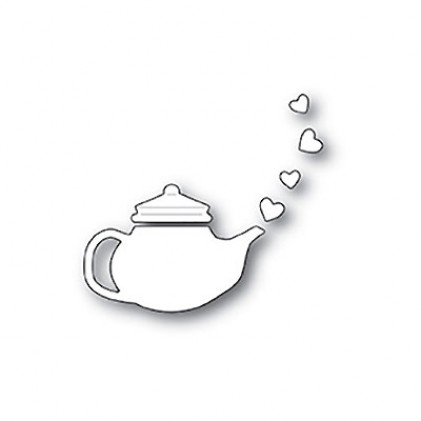 Poppy Stamps Stanzschablone - Lovely Teapot