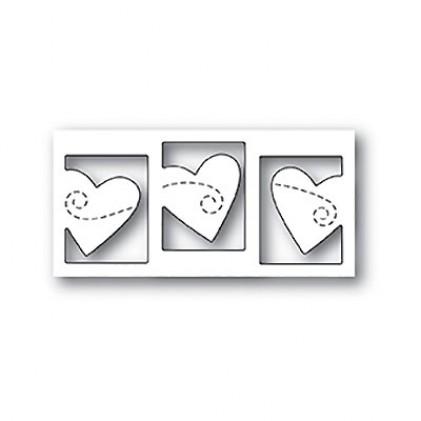 Poppy Stamps Stanzschablone - Triple Heart Twirl