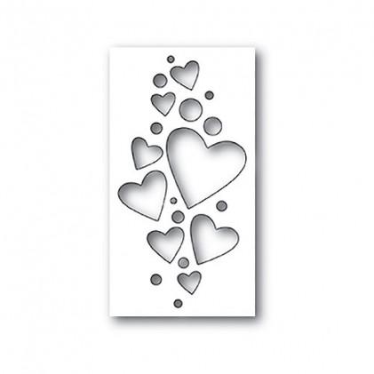 Poppy Stamps Stanzschablone - Heart Confetti Collage