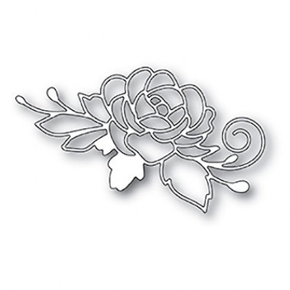 Poppy Stamps Stanzschablone - Blooming Rose