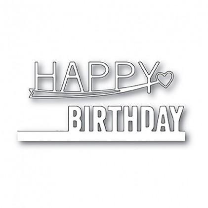 Poppy Stamps Stanzschablone - Happy Birthday Combo