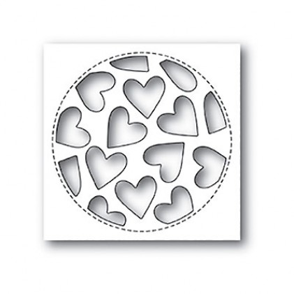 Poppy Stamps Stanzschablone - Tumbled Heart Collage - 25% RABATT