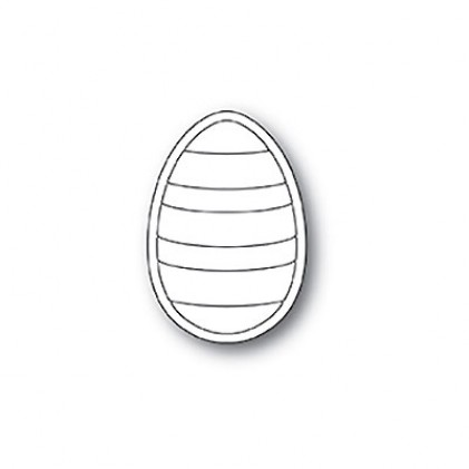 Poppy Stamps Stanzschablone - Striped Egg