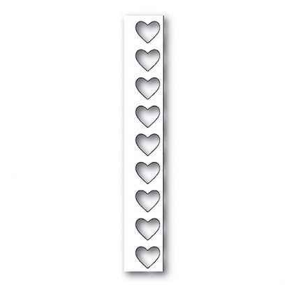 Poppy Stamps Stanzschablone - Big Heart Border Layer