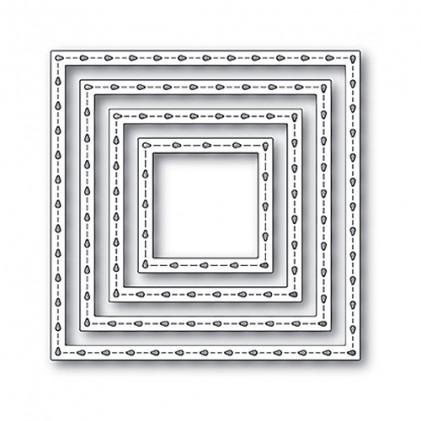 Poppy Stamps Stanzschablone - Stitchwork Square Frames