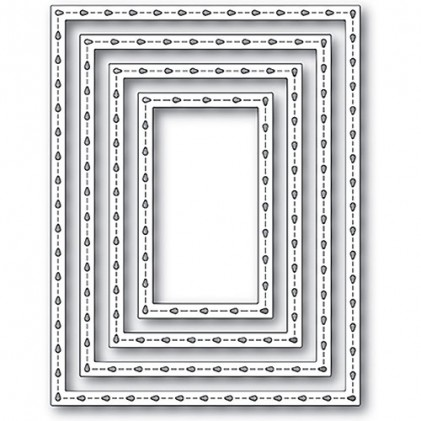 Poppy Stamps Stanzschablone - Stitchwork Rectangle Frames